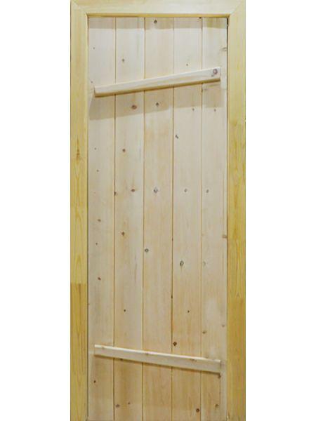 Банная дверь ПГ Крестьянка (Сосна)
