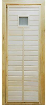 Дверь для бани и сауны ПО-1 Сатин (Липа)