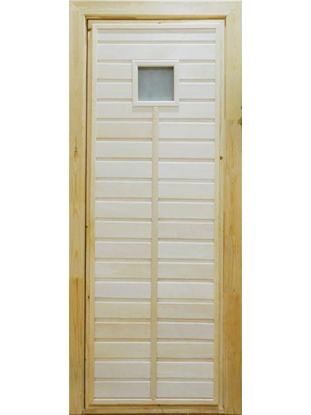 Банная дверь ПО-1 Сатин (Липа)