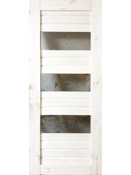 Банная дверь ПО-12 Бронза (Осина)