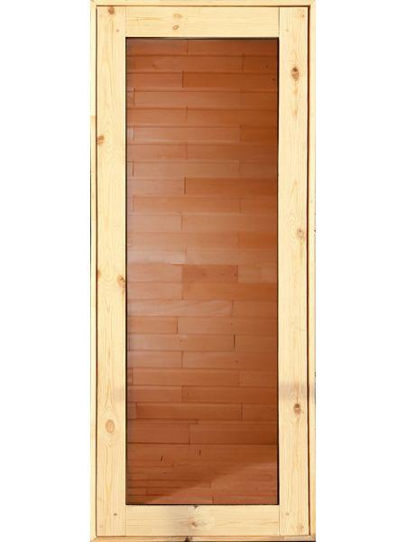 Банная дверь ПО-14 Бронза (Осина)