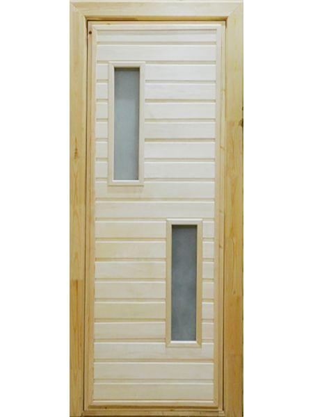 Банная дверь ПО-2 Сатин (Липа)
