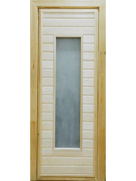 Банная дверь ПО-4 Сатин (Липа)