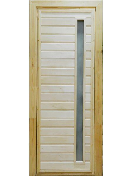 Банная дверь ПО-5 Сатин (Липа)