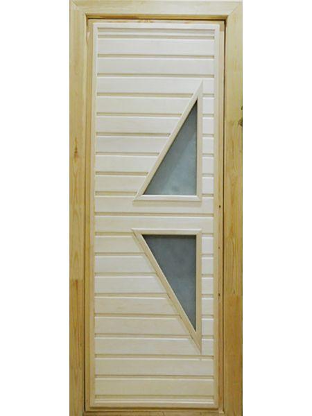 Банная дверь ПО-7 Сатин (Липа)