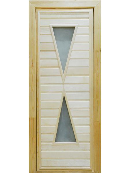 Банная дверь ПО-9 Сатин (Липа)