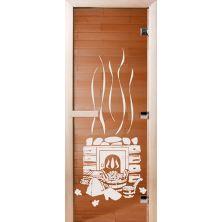 Стеклянные двери СД Бронза «БАНЬКА»