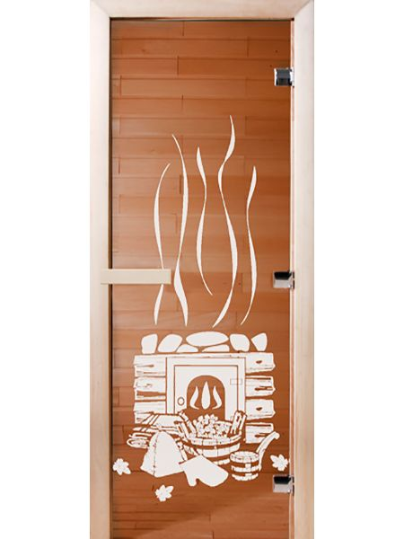 Банная дверь СД Бронза «БАНЬКА»