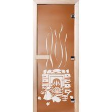 Стеклянные двери Бронза матовое «БАНЬКА»