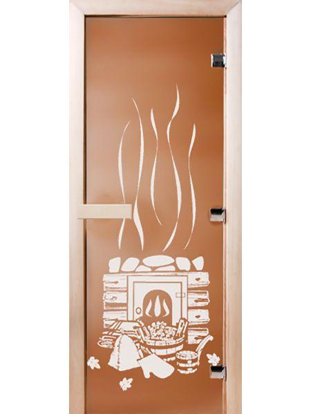 Банная дверь СД Бронза матовое «БАНЬКА»