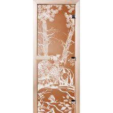 Стеклянные двери СД Бронза матовое «МИШКИ»