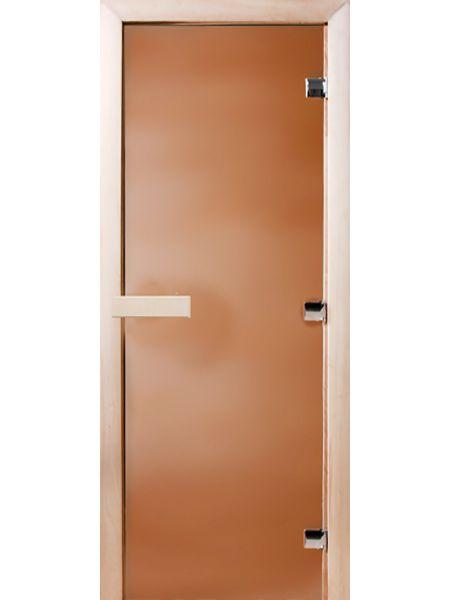 Банная дверь СД Бронза матовое