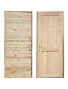 Входная деревянная дверь «ЗИМА - Имитация бруса / Рим»