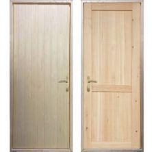 Входная деревянная дверь «ЗИМА - Вагонка / Рим»