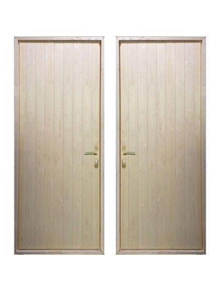 Входная деревянная дверь «ЩИТОВАЯ - Вагонка / Вагонка»