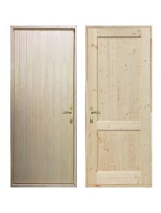 Входная деревянная дверь «ЗИМА - Вагонка / Классика»