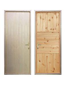 Входная деревянная дверь «ЗИМА - Вагонка / Палермо»