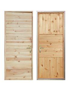 Входная деревянная дверь «ЗИМА - Имитация бруса / Палермо»