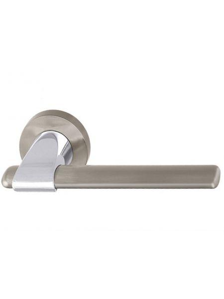 Дверная ручка Armadillo Ajax URB1 SN/CP/SN-12 (Мат. никель/хром/мат. никель)