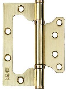 Накладная унив. петля BUSSARE B020-U 100X75X2.5-2BB-1SG Золото матовое