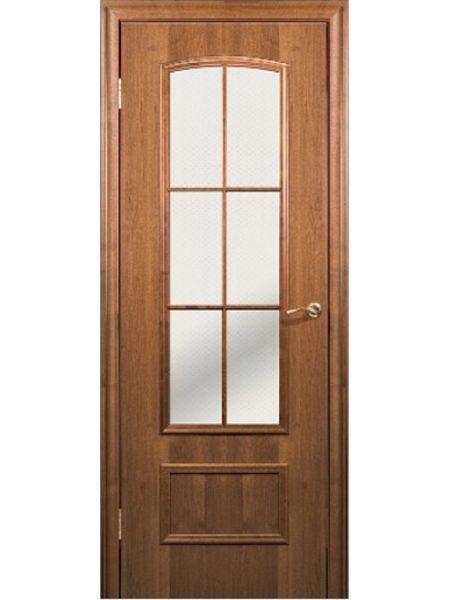 Межкомнатная дверь Краснодеревщик Модель 208 (Орех темный)