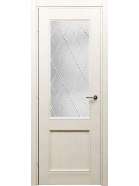 Межкомнатная дверь Краснодеревщик ПО 3324 (Беленый дуб)