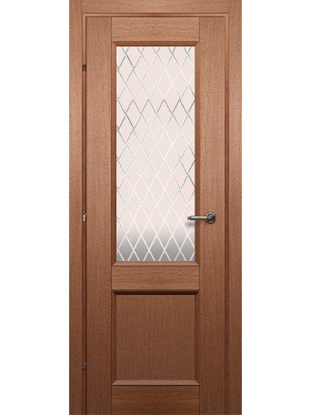 Межкомнатная дверь Краснодеревщик ПО 3324 (Грецкий орех)