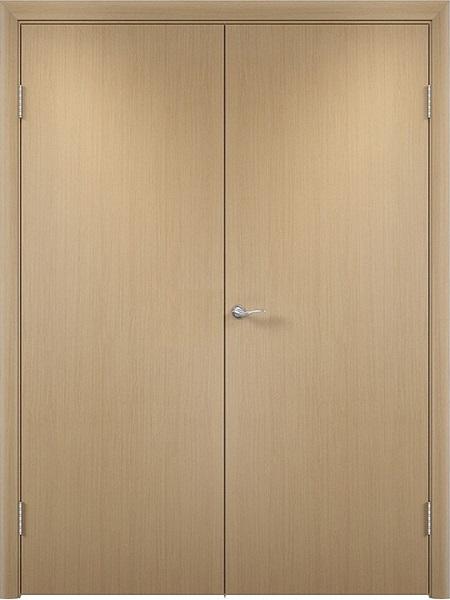 Двустворчатая дверь Верда Полотно глухое (Беленый дуб)