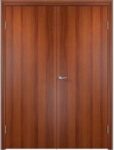 Двустворчатая дверь Верда Полотно глухое (Итальянский орех)