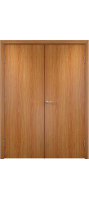 Двустворчатая дверь Верда Полотно глухое (Миланский орех)