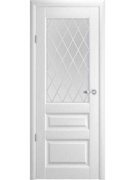 Межкомнатная дверь Фрегат Эрмитаж-2 (Белая - Стекло ромб)