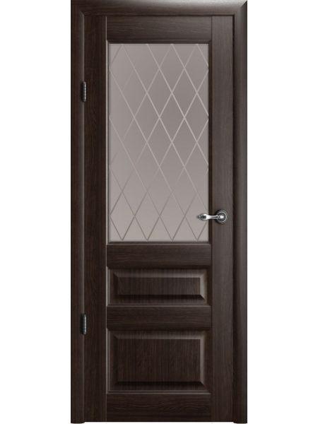 Межкомнатная дверь Фрегат ПО Эрмитаж-2 (Орех - Стекло ромб)