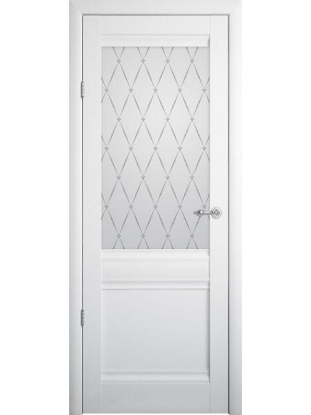 Межкомнатная дверь Фрегат Рим (Белая - Стекло мателюкс)