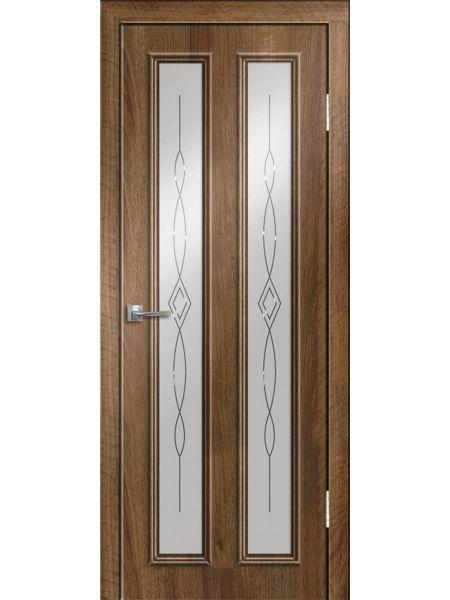Межкомнатная дверь Greenwood ПО Эврика (Орех седой светлый)