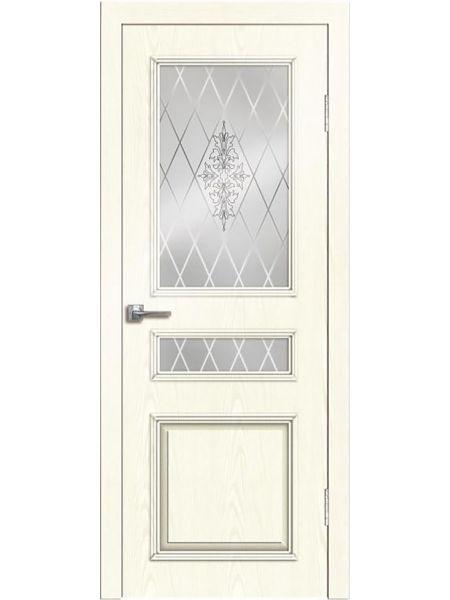 Межкомнатная дверь Greenwood ПО Нордика (Белый ясень)