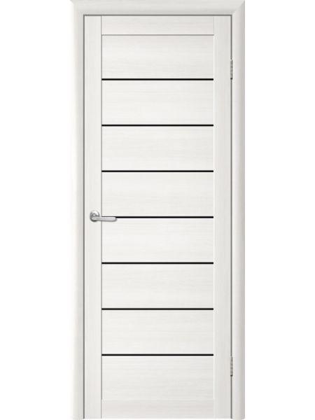 Межкомнатная дверь Trend doors ПО T-1 (Лиственница белая - Черный акрилат)