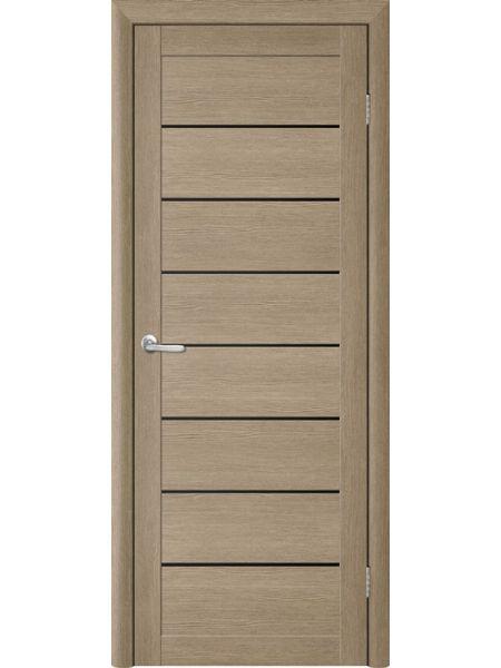 Межкомнатная дверь Trend doors ПО T-1 (Лиственница латте - Черный акрилат)