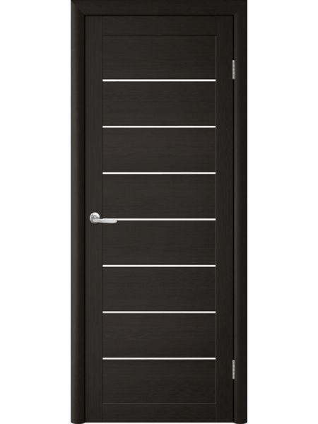 Межкомнатная дверь Trend doors ПО T-1 (Лиственница темная - Белый акрилат)