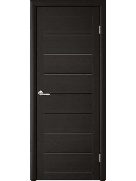 Межкомнатная дверь Trend doors ПО T-1 (Лиственница темная - Черный акрилат)
