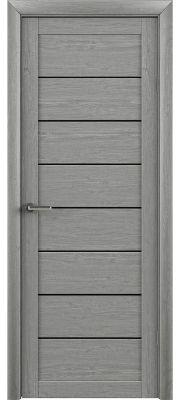 Trend doors ПО T-1 (Ясень дымчатый серый - Черный акрилат)