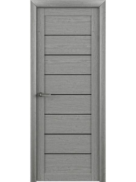 Межкомнатная дверь Trend doors ПО T-1 (Ясень дымчатый - Черный акрилат)