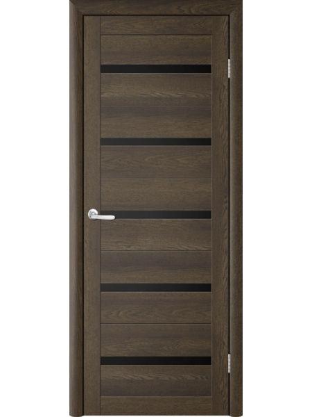 Межкомнатная дверь Trend doors ПО T-2 (Дуб оксфорд - Черный акрилат)