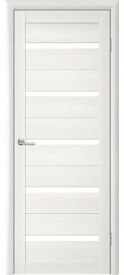 Двери Trend doors ПО T-2 Стекло (Лиственница белая - Белый акрилат)