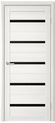 Двери Trend doors ПО T-2 Стекло (Лиственница белая - Черный акрилат)