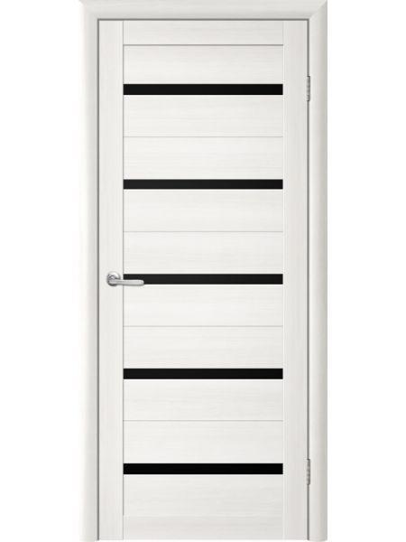Межкомнатная дверь Trend doors ПО T-2 (Лиственница белая - Черный акрилат)