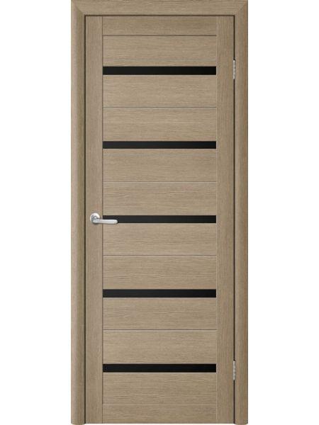 Межкомнатная дверь Trend doors ПО T-2 (Лиственница латте - Черный акрилат)