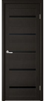 Двери Trend doors ПО T-2 (Лиственница темная венге - Черный акрилат)