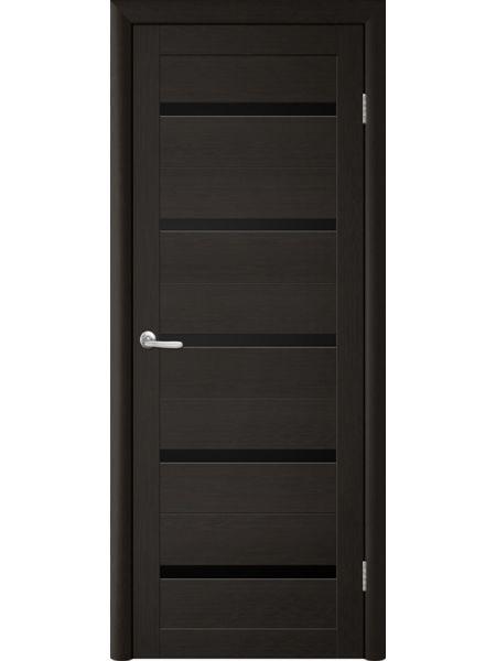 Межкомнатная дверь Trend doors ПО T-2 (Лиственница темная - Черный акрилат)