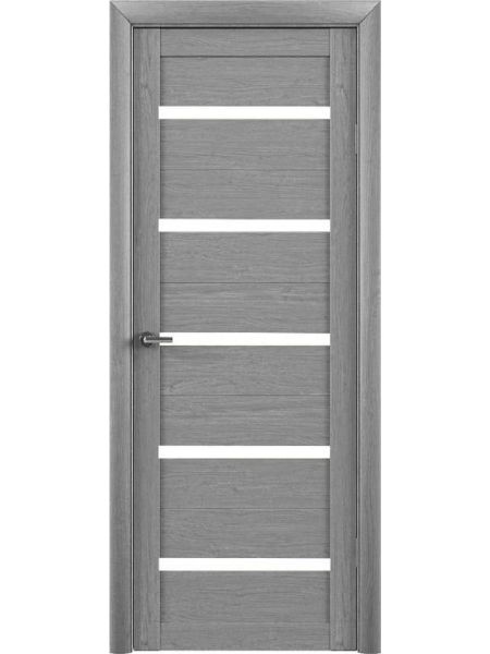 Межкомнатная дверь Trend doors ПО T-2 (Ясень дымчатый - Белый акрилат)