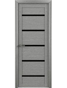 Двери Trend doors ПО T-2 (Ясень дымчатый серый - Черный акрилат)